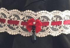 Items similar to Lace Lolita Choker Necklace on Etsy Red Lace, Crochet Necklace, My Etsy Shop, Chokers, Check, Accessories, Shopping, Jewelry, Fashion