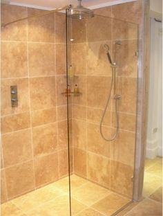Contemporary Showers wall only bathtub height is better - frameless glass shower doors