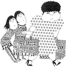 Harriet the Spy's classmates, illustration by Louise
