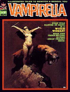Vampirella magazine #7, 1970 - Frank Frazetta's painted cover. See more Vampirella