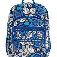 0719a3c8985e Vera Bradley Campus Backpack (Blue Bayou) -- You can get additional details  at