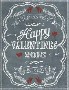 Chalkboard art: Valentine's Day