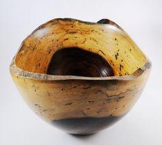 Wood Bowl No130205  Cocobolo Natural Edge by conreysa on Etsy, $125.00
