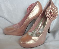 Size 9 Prom Party Wedding Pink Glittery Rose Stiletto Heels from Nourish Trendy  #Stilettos