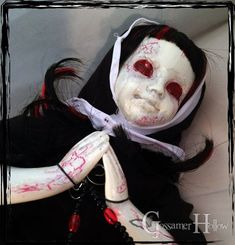 """Holy Possession"" by Gossamer-HollowDolls Creepy Dolls, Abandoned, Halloween Face Makeup, Left Out, Ruin"