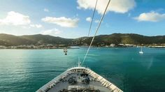 Sailing into port. #caribbean