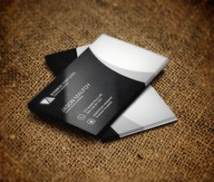 Black & Grey Business Card Template by Business Templates on Creative Market
