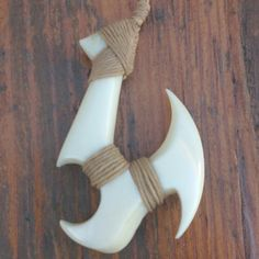 New HammerHead stylized Fish Hook Necklace | Made in Hawaii | Fish Hook Necklaces | Shark Bone Carving | Carvings