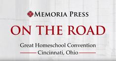 Our team had a wonderful time in Cincinnati at Great Homeschool Conventions Ohio! Check out these highlights from the convention, and make plans to come see us on the road this season.