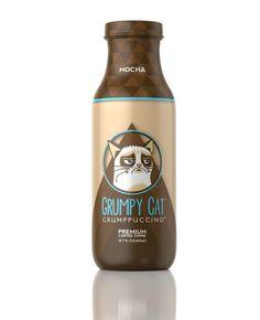Grump in a Bottle: Grumpy Cat Grumppuccino Bottled Coffee Drink