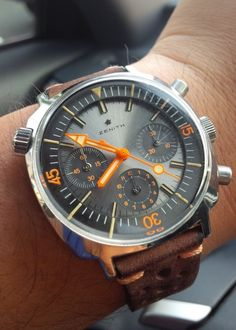 omegaforums: Superb Vintage Zenith Super Sub Sea Chronograph In Stainless Steel