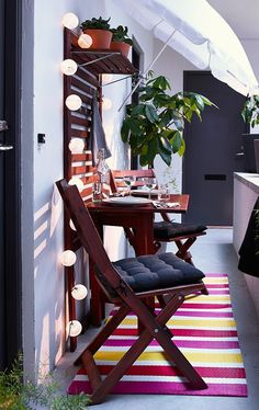 platzsparende moebel kleinen balkon gestalten terrasse gestalten