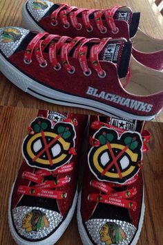 size 40 93a62 4ba83 My customized blackhawks converse!  ChicagoBlackhawks  Blackhawks  Chicago   Converse  BlackhawksShoes Blackhawks
