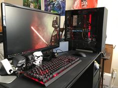 This guy's got the same watch as me. Computer Desk Setup, Computer Workstation, Computer Build, Pc Desk, Best Gaming Setup, Gaming Room Setup, Pc Setup, Office Setup, Gaming Rooms