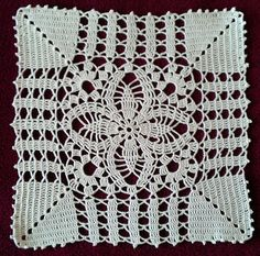 Size: cm Material: cotton crochet yarn Koral A crochet needle Looks nice when you do one square and add. Granny Pattern, Crochet Motif Patterns, Crochet Blocks, Crochet Squares, Cotton Crochet, Crochet Yarn, Easy Crochet, Crochet Tablecloth, Crochet Doilies