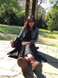 Spring .. #jeans # doctormartens #dress #skater