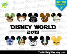 2019 Star Wars Disney World Mickey Heads Printable Iron On Transfer or Use as Clip Art, DIY Star War Shirt Adult & Child Size Mickey Ears by TheWallabyWay on Etsy Iron On Transfer, Transfer Paper, Mickey Head, Mickey Mouse, Old Shirts, Tips & Tricks, Disney Star Wars, Adult Children
