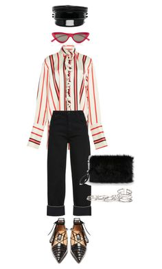 """""""Senza titolo #2876"""" by monsteryay ❤ liked on Polyvore featuring Paul Frank, Ruslan Baginskiy, Rue St., Le Specs and GUESS"""