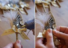 awesome DIY burlap boutonniere from greenweddingshoes http://greenweddingshoes.com/diy-a-burlap-boutonniere/