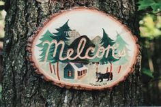 A cabin sign that Anna Bond (of Rifle Paper Co.) carved and hand painted. She& mastered the art of a clear aesthetic that never gets stale. (via Rifle Paper Co. Anna Rifle Bond, Anna Bond, Lakeside Living, Cabin Signs, Safe Haven, Rifle Paper Co, Home Photo, Back Home, Typography Design