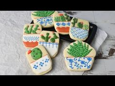 I made pretty Succulent Cookies. Enjoy. I love to bake, decorate cookies, cakes, cupcakes. Have a suggestion for a video, leave me a note below or email at h...