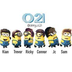 Kian Lawley, Trevor Moran, Ricky Dillon, Connor Franta, JC Caylen and Sam Pottorff as Our Second Life minions