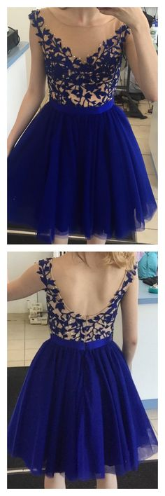 Fashion Appliqued Homecoming Dress With Beading ,Short Prom Dresses,Short Wedding Dress from promdresstailor - - Source by Royal Blue Homecoming Dresses, Elegant Prom Dresses, Dresses Short, Royal Blue Dresses, Sweet 16 Dresses, Cheap Prom Dresses, Sweet Dress, Trendy Dresses, Nice Dresses