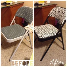 Spray painted the base then just reupholstered with furniture fabric from joann