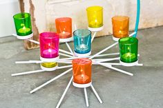 Neon Spoke Votive Candle Holder from Earthbound