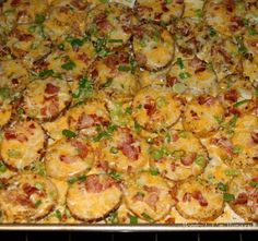 Twice Baked Potato Rounds Recipe   Just A Pinch Recipes