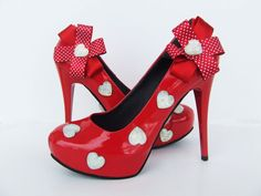 Sweetheart  Red patent leather shoes with by KUKLAfashiondesign, $89.00