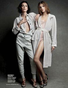 """""""Cherchez La Femme"""" by Patrick Demarchelier for Vogue Russia March 2015"""