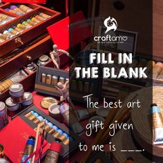 """Fill in the blank: """"The best art gift 🎁 given to me is _____. Art Supplies, Cruelty Free, Cool Art, Fill, Eco Friendly, Good Things, Crafts, Manualidades, Handmade Crafts"""