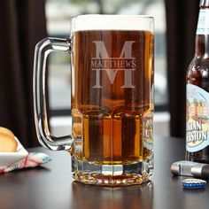 Sometimes a pint glass just won t do. When you need a little bit extra reach for our impressive Colossal custom beer mug.