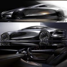 #Mazda Vision Coupe Concept sketches by Ryoma Makino