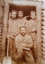 WW I German RPPC German Army Miners at Mine Gallery on the  Western Front