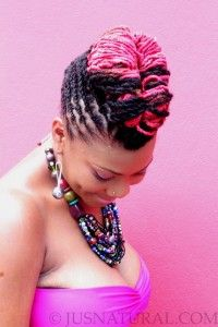 Colour on dreadlocks is insanely cool. Pink about it ;)