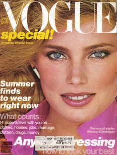 Kelly Emberg on Vogue cover, US Vogue June 1979 : Kelly Emberg by Patrick Demarchelier