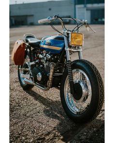 🏁 caferacerpasion.com 🏁 1975 kawasaki z400 #BratStyle...