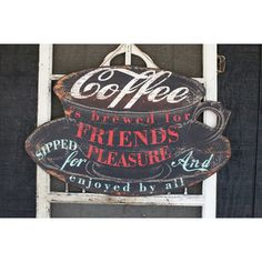 Creative Co-Op Casual Country Coffee Is Brewed…Wall Décor
