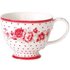 GreenGate Teacup ~ Coco White / Ruby