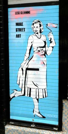Zabou - street art london shoreditch bricklane - huxton st nov 2014
