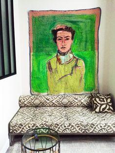 FB Jasper Krabbe   Hindi Zahra 2015 200 x 140 cm Oil on movingblanket. Private Collection Amsterdam
