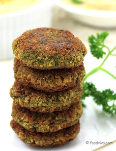 Falafel - Shallow Fried Crispy Fritters Made of Chickpeas (kabuli chana) - Easy Recipe with Step by Step Photos