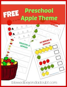 FREE Preschool Apple Theme with tons and tons of apple ideas!