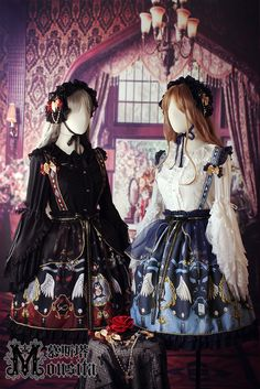 Mousita -Monastery of the Angels- Lolita Skirt with Shoulder Straps