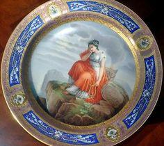 1827 Origina Royall Vienna Cabinet Plate