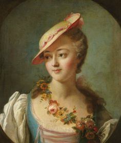 A portrait of the marquise de Pompadour by the circle of Charles-Andree Van Loo    The marquise de Pompadour, more popularly known as Madame de Pompadour, was a very influential mistress of Louis XV.