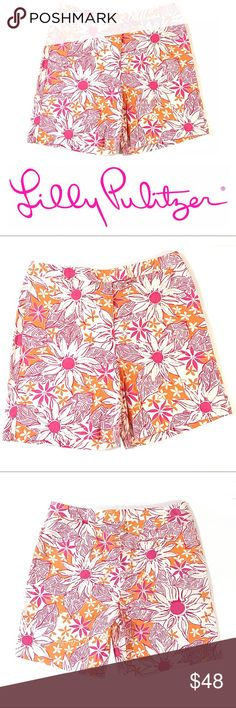 Lilly Pulitzer Shorts Pink Orange Floral Print Lilly Pulitzer Shorts Pink Orange Floral Print Excellent condition nearly NWOT Get spring / summer ready in these shorts Whether a day at the beach or at the country club these shorts reflect effortless chic Front key pocket Rear button pocket So Gorgeous Bundle with a wide selection of Lilly Pulitzer items in my closet to avail discount & save on shipping Lilly Pulitzer Shorts