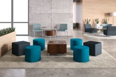Flock has expanded its offering to include casual seating and seated height tables to further enhance productivity, wherever work gets done. #design #interiordesign #office Learn more at www.hon.com/Flock